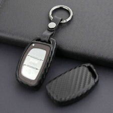 Carbon Fiber Smart Car Key Cover Accessories For Hyundai Tucson Elantra Sonata