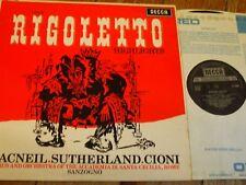 Verdi Rigoletto destaca sxl 6008 ()/Macneil/Sutherland/Sanzogno etc.