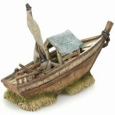 Decorazioni barche in poliresina per acquari
