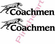 2- Coachmen Decals Small colors RV sticker  graphics trailer camper rv coachman
