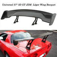 """57"""" 3D GT JDM Fibre de Carbone Aileron Arrière Léger Wing 7"""" Becquet Universel"""