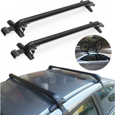 "43.3"" Universal Top Luggage Roof Rack Cross Bar Carrier Adjustable Window Frame"