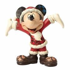 "Jim Shore Disney Mickey Mouse ""Christmas Cheer""~4046016*NIB*Santa"