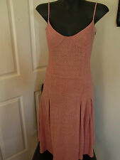 Veronika Maine (Cue) Pink Maxi Dress Made in Australia Cotton Lined Size10