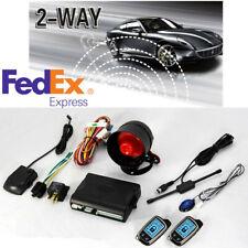 New listing Dual Way Car Alarm Anti-theft System Six-tone 120db Siren Remote Lcd Display