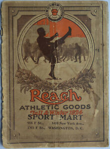 1924 Fall/Winter Reach Athletic Goods Catalog Booklet, w. Great Sports Equipment