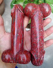 Top!!!536g Realistic Red Stone Crystal Sculpture Powerful Dick/the penis worship