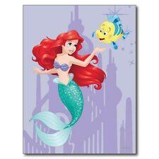 """+PC-Postcard-""""Famous Characters...Ariel & Flounder""""  (B365)"""