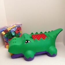 *Mix Lot 1.5LBS LEGO DUPLO Blocks ALLIGATOR CROCODILE Storage Sweeper. (ba10248)