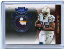 2010 PLATES & PATCHES #80 ANTONIO GATES 3-COLOR PATCH #5/45, SAN DIEGO CHARGERS