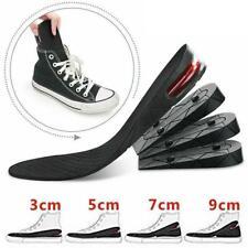 Unisex 3cm 5cm 7cm or 9cm Heel Height Increase Shoe Lift Insole Inserts (Black)