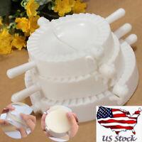 3x Dumpling Mould Dough Press DIY Meat Pie Pastry Empanada Mold Maker 3 Sizes US