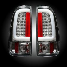 RECON FORD SUPER DUTY CLEAR LED TAIL LIGHTS 08-16 PART# 264293CL