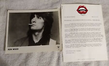 Ron Wood - New Barbarians - Press Release with Publicity Photo - 1979