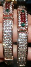 NEW 2 kids rich looking rhinestone bangles bracelet Indian Garba Navratri Diwali