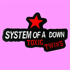 System Of A Down Toxic Twins Star Punk Rock Music SOAD Iron On Embroidered Patch