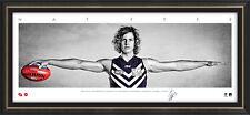 Nat Fyfe Signed Fremantle Mini Wings Official AFL Print Framed 2015 Brownlow