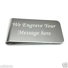 CUSTOM ENGRAVED Stainless Steel Money Clip Wedding Christmas Best Men Birthday