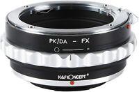 Lens Adapter Aperture Control Pentax K PKAF PK DA A Lens to Fujifilm X FX Camera