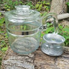 Pyrex Percolator #7756 B Vintage 6 Cup Coffee Pot- Clear Flameware Incomplete