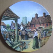 Royal Doulton Collectors Plate THE MARKET SQUARE - JOURNEY THROUGH THE VILLAGE