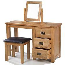 Odessa Oak Bedroom Furniture Dressing Table Mirror and Stool Set