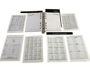 A6 Diary Inserts 2022  suitable  for Mulberry Agenda 100x145mm (64 Pages) Weekly