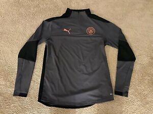 Manchester City FC Puma Training Pullover Jacket 2020-21