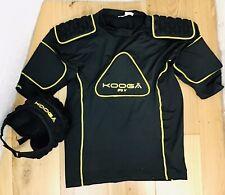 Kooga Protective Rugby Helmet & Padded Top Set Adults Size Large Black