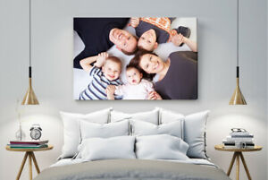 PERSONALISED CANVAS PRINT Water resist SIZES A4-A3-A2-A1-WITH YOUR PHOTO/PIC