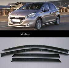For Peugeot 208 Hb 5d 2012-19 Side Window Visors Sun Rain Guard Vent Deflectors