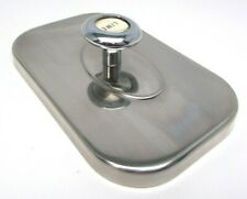 Vintage Soda Fountain Ice Cream Topping Dispenser Stainless Top Lid Lime
