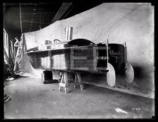 1912 Elco Plane Boat 6.5x8.5 GLASS Old Photo Negative FD-D10