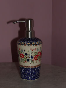 Polish Pottery Lotion Soap Dispenser!  UNIKAT Signature Exclusive Zoey Pattern!