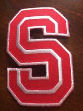 """Stanford Cardinal Indians Vintage Embroidered Iron On Patch (NOS) 3"""" X 2"""""""