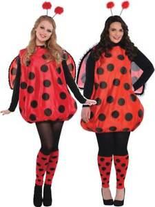 Ladies Darling Lady Bird Costume Adults Bug Fancy Dress Outfit Ladybird STD - XL