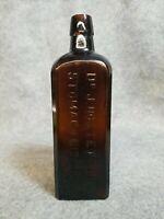 """Dr. J. Hostetter's Stomach Bitters bottle, 8 3/4"""" tall"""