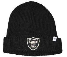 NFL Oakland Raiders Amesbury Cuff Beanie Knit Hat Black