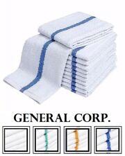 300 Blue Stripe Super Bar Towel Bar Mop Kitchen Restaurant Cleaning Towels 33oz
