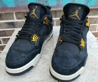 "Nike Air Jordan 4 Retro ""Royalty"" Style 308497-032 Black Gold Sz 9.5"