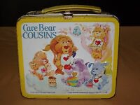 VINTAGE 1985 ALADDIN CARE BEAR COUSINS  METAL LUNCH BOX