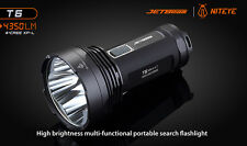 MILITARY-POLICE-JET BEAM T6 4X CREE XP-THE POLICE 4350 LM LED FLASHLIGHT🀰[BLACK