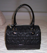 NWT Betsey Johnson Sequin Satchel Bag HIGH SEQUENCY BLACK