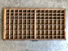Antique Letterpress Printers wood TYPE TRAY w/ Hamilton Handle
