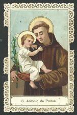 Estampa de puntilla canivet de San Antonio de Padua santino holy card  santini