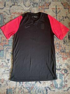 Men's Nike South Korea Soccer National Team Black Pink Pre-Match Jersey Size L