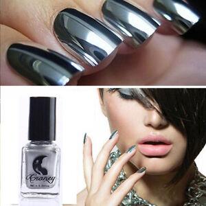 Nail Polish Mirror Chrome Effect Shine Varnish  Beauty Fashion 6ml