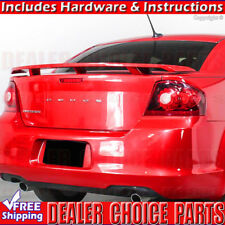 2008-2014 Dodge AVENGER Factory Style Spoiler Rear Wing Tail UNPAINTED ABS