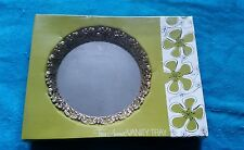 VINTAGE Tres Amour GOLDEN  MIRRORED VANITY TRAY 8 INCHES BEAUTIFUL NOS