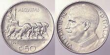 50 CENTESIMI 1925 BORDO RIGATO REGNO D'ITALIA VITTORIO EMANUELE III BB++ #6098